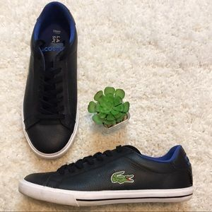 LACOSTE SPORT LEATHER SNEAKERS IZOD PREPPY EUC 8
